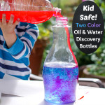 Two Color Oil and Water Discovery Bottles