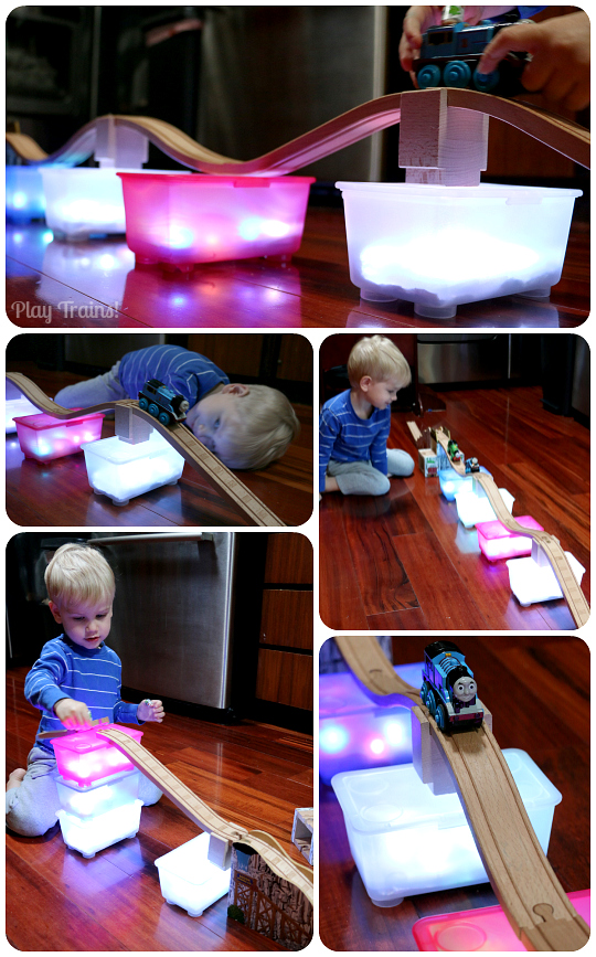 Building with Mini Light Boxes: Roller Coaster Tracks for Wooden Trains @ Play Trains!