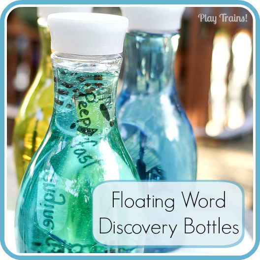 Floating Word Discovery Bottles