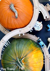 Pumpkin Mountain Railroad Building: a Halloween Train Activity from Play Trains!