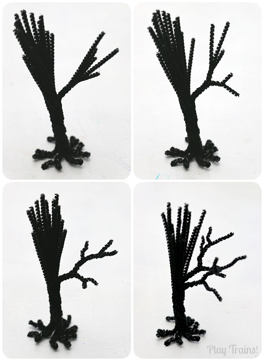 Spooky Trees Halloween Craft for Halloween Decorations, Small Worlds and Train Sets from Play Trains!