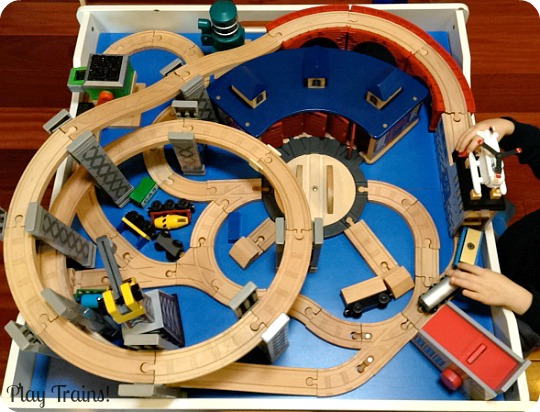 The Play Trains! Guide to Wooden Train Sets expert advice on the best wooden : best train table set - pezcame.com