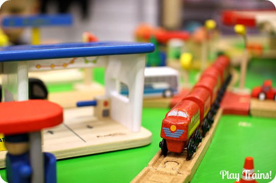 Wooden train track play table kmart