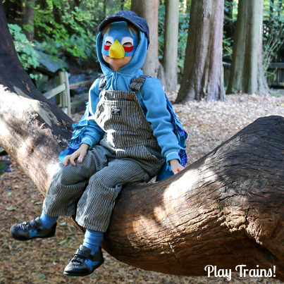 DIY Angry Birds Costume: Engineer Blue Bird Mask and Wings
