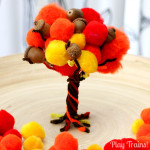 Fall Pom Pom Tree — Fine Motor Activity