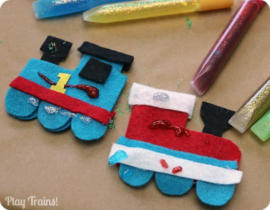 DIY Felt Train Ornament Kids Christmas Craft from Play Trains!