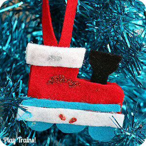 DIY Felt Train Ornament Kids Christmas Craft from Play Trains!
