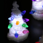 Light-up Pipe Cleaner Christmas Trees for Small Worlds