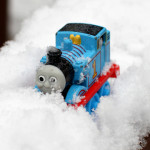 Winter Train Play in the Snow