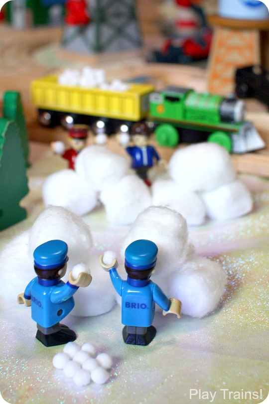 Winter Train Play Ideas: Snow for Wooden Train Layouts from Play Trains!