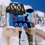 Wooden Train Ski Jump — Winter Olympics Activities for Kids