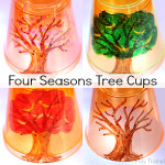 Four Seasons Tree Cups for Light Play