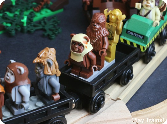 LEGO Ewok Village Wooden Train Layout from Play Trains!