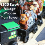 LEGO Ewok Village Wooden Train Layout