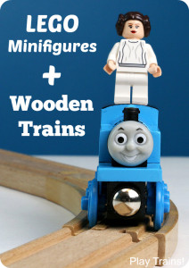 Lego Minifigures and Wooden Trains