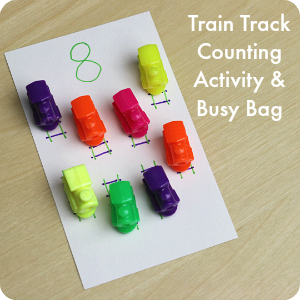Train Track Counting Activity and Busy Bag from Play Trains!