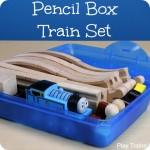 Pencil Box Portable Train Set