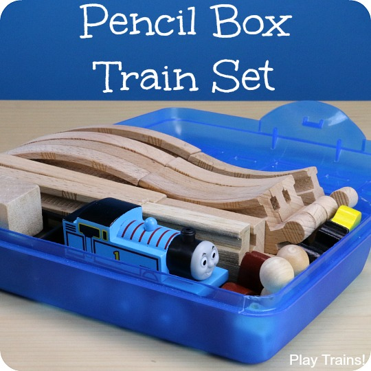Pencil Box Portable Train Set
