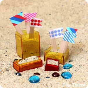 Travel-Friendly Mini Sand Castle Kit from Play Trains!