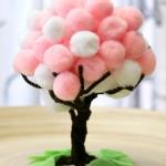 Cherry Blossom Spring Pom Pom Trees