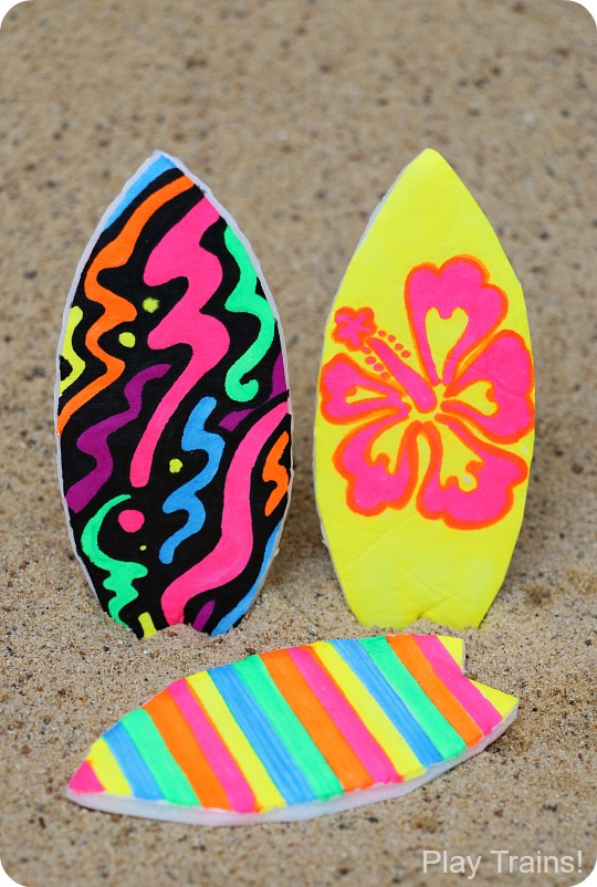 Toy Surfboard Summer Craft for Kids from Play Trains!