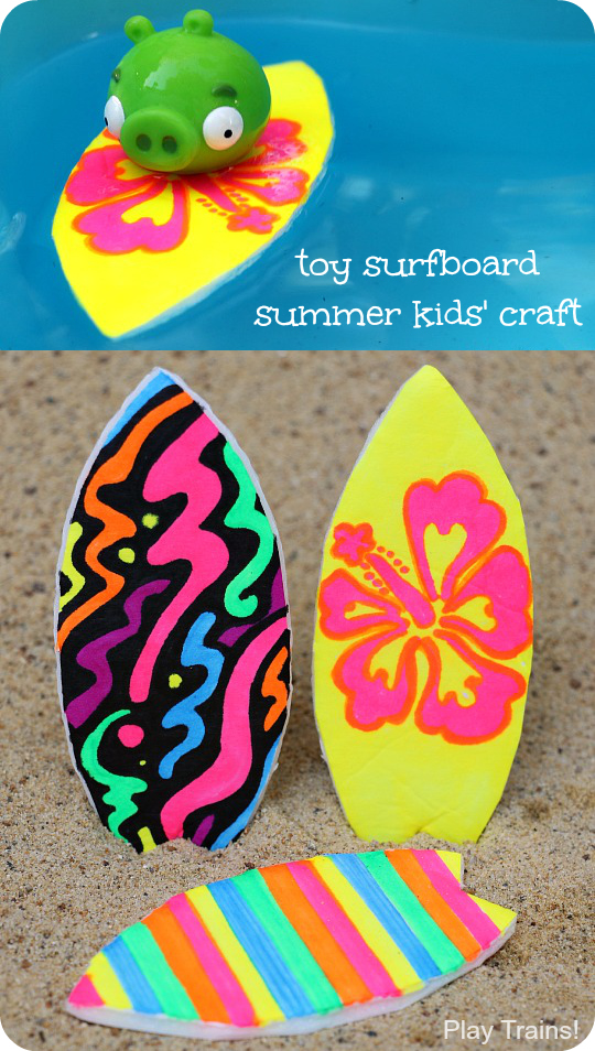 Toy Surfboard Summer Craft For Kids From Play Trains