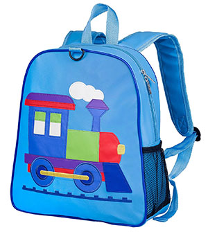 Back to School: Train Backpacks, Lunch Boxes, and More: Olive Kids Embroidered Backpack, Train