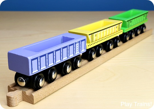 Cool Toy Train Cars : Wooden train freight cars the play trains ultimate