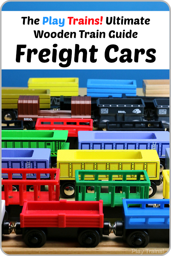 Wooden Train Freight Cars The Play Trains Ultimate Wooden Train