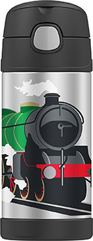 Back to School: Train Backpacks, Lunch Boxes, and More: Thermos Funtainer 12 Ounce Bottle, Locomotive Train