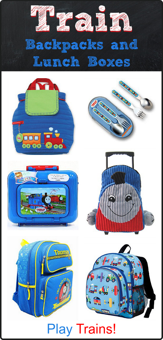 Back to School: Train Backpacks, Lunch Boxes, and More!