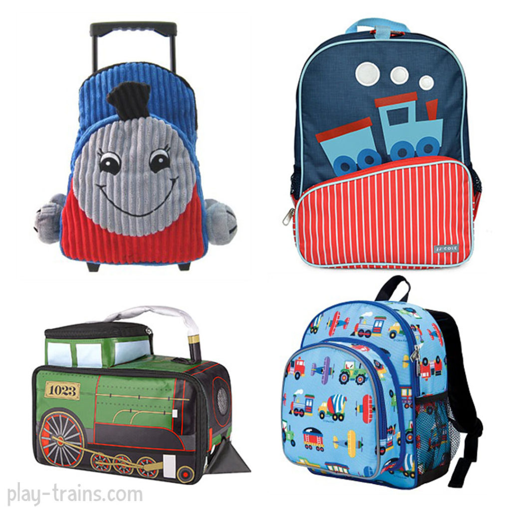 Back to School: Train Backpacks and Lunch Boxes