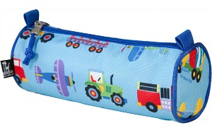 "Back to School: Train Backpacks, Lunch Boxes, and More -- Wildkin Olive Kids Trains or Planes and Trucks 8"" Pencil Case"