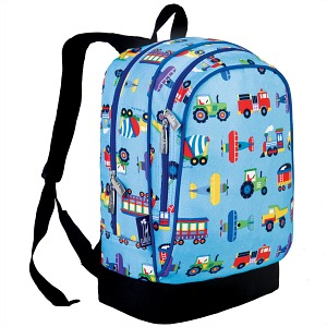 Back to School: Train Backpacks, Lunch Boxes, and More -- Wildkin Olive Kids Trains, Planes and Trucks Sidekick Backpack