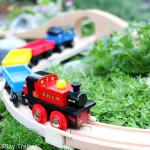 DIY Outdoor Train Table: a Wooden Train Garden Railway