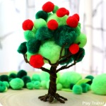 Apple Harvest Pom Pom Tree Fine Motor Activity