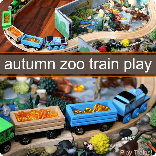 Autumn Zoo Train Play from Play Trains!