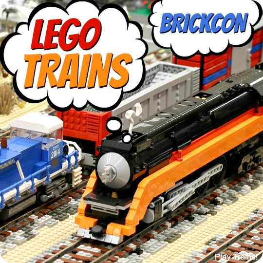 LEGO Trains at Seattle BrickCon 2014: building inspiration for little engineers, including a fun LEGO train video!