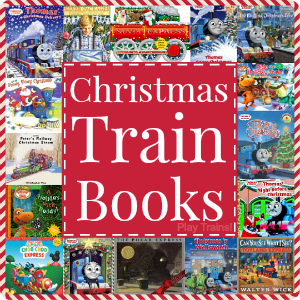 Christmas Train Books for Kids: a big list of holiday books for children who love trains -- recommended by Play Trains!