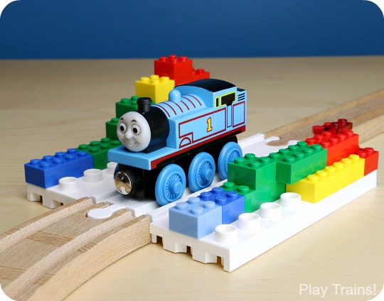 Building with Dreamup Toys Wooden Railway Block Platforms