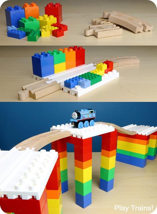 Dreamup Toys Wooden Railway Block Platforms 13