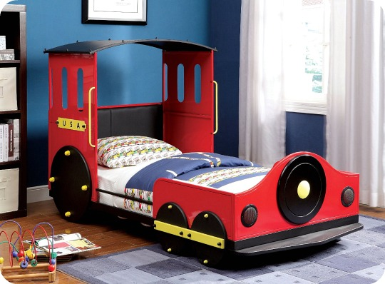 Furniture of America Alleny Train Bed (Twin)