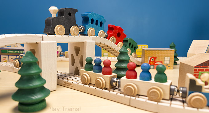 Maple Landmark NameTrain Wooden Trains, from The Play Trains! Guide to Wooden Train Sets: expert advice on the best wooden train set to buy for your little engineer.