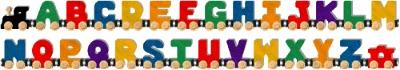 NameTrain A-Z Bright Finish Alphabet Train