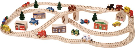 NameTrain Town Train Set