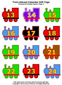 200 x 273 jpeg 36kB, Download Train Advent Calendar Gift Tags: Thomas ...