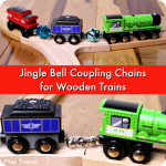 Jingle Bell Coupling Chains for Wooden Trains