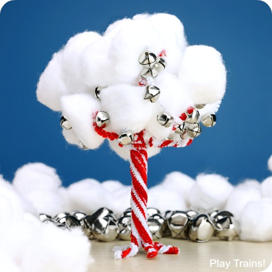 Jingle Bell Candy Cane Tree Craft
