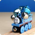 Wooden Train Jingle Bell Shakers