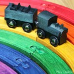 DIY Rainbow Train Set